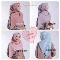 KAHFI ZOYA Nov-scarf hijab kerudung segiempat original polos