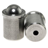 E-outstanding Spring Plunger 2PCS 0mm Dia 304 Stainless Steel Ball Ca
