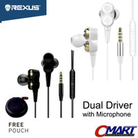 Trendy Rexus Earphone Gaming EP3 Dual Driver With Mic headset headphon