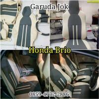 sarung jok mobil All New Honda Brio 2018 free cover stir Berkualitas