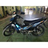 125 Lis R Honda Tahun 2012 Striping Supra Sticker Hitam Biru x