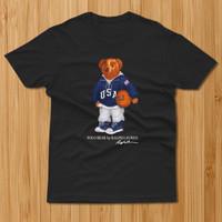 Baju Kaos 90s POLO Bear Basketball Sport Black