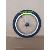 Roda Set Ban Belakang Kursi Roda Travel Ukuran 16 Sparepart Suku