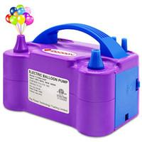 IDAODAN Electric Air Balloon Pump, Portable Dual Nozzle Electric Ballo