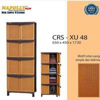 LEMARI ADT3284 LEMARI PLASTIK NAPOLLY ROTAN 4 SUSUN 8 PINTU CRS XU 48
