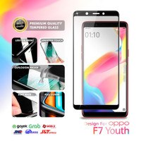 Tempered Glass Oppo F7 Youth Full Cover Black