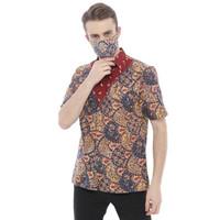 TERMURAH!!! Laris Galeri Kemeja Batik Pria Motif Sisik Naga Free Mask