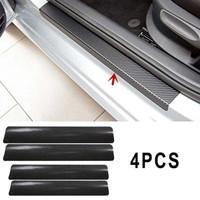 A7S Stiker Carbon Fiber door sill pelindung anti gores pijakan seal