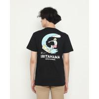 Kaos Pria Erigo T-Shirt Irita Beach Cotton Combed Black - S