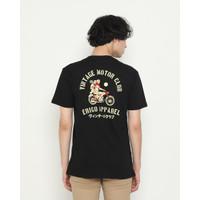 Kaos Pria Erigo T-Shirt Motor Club Cotton Combed Black