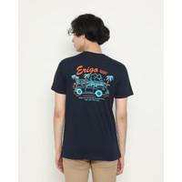 Kaos Pria Erigo T-Shirt Holiday Summer Cotton Combed Navy - S