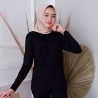 KAHFI Inner Manset wanita 2 Warna jumbo XL-XXL manset kaos atasan baju