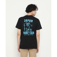 Kaos Pria Erigo T-Shirt Osaka Surfing Cotton Combed Black - S