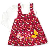Setelan OverAll Dress Anak Perempuan 12-18 Bulan Katun Twin Butterfly