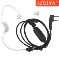 2 Pin Dual PTT Covert Air Acoustic Tube Headset for Baofeng UV-82