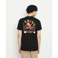 Kaos Pria Erigo T-Shirt Squid Cotton Combed Black