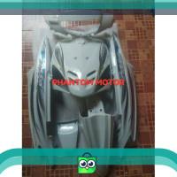 TERMURAH Cover Body Halus Mio Sporty Putih Striping