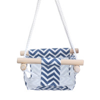 Promo Kid Hanging Swing Seat Canvas Baby Hammock Chair Toddler Toy