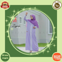 gamis dress baju rayon syari muslim terbaru arrafi rabbani elzatta