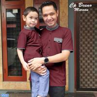 Jf - Baju Atasan Muslim Couple Koko Bapak Size L & Anak S.M.L 5-8th
