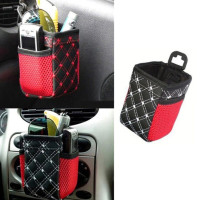Synthetic Leather Auto Car Air Outlet Mobile Phone Pocket Storage B 9e