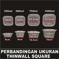 Medan Plastik Salad Victory Buah Cup Square Thinwall Kotak Makan 350ml