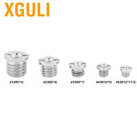 Xguli 5pcs Screw Threaded Ball Plunger Stainless Steel Flanged