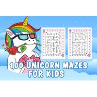 Kertas Belajar Mewarnai Anak Karakter Gambar Kartun UNICORN MAZES GAME