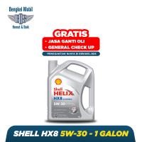 Oli Mobil Shell HX8 Full Synthetic 5w-30 @4 LITER - GRATIS JASA GANTI