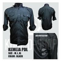Baju Kemeja Seragam PDL Tactical Outdoor Lengan Panjang Pria Hitam