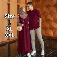 Farel Gamis Couple Jumbo Ukuran L XL XXL Baju Copel Kapel Kopel