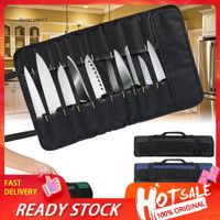 DYL_22 Pockets Portable Carrying Kitchen Chef Knife Roll Bag Cutlery