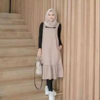 KAHFI Baju Outer Muslim Kekinian Overall Princess Trends Fashion Anak