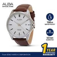 Jam Tangan Pria Alba ACTIVE Quartz Leather AS9J77 Original