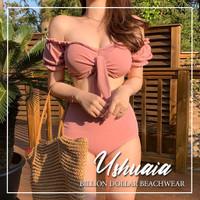 PROMOSI USHUAIA - Premium Swimwear Swimsuit Pink Bikini Baju Renang Wa