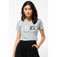 Colorbox Live By Sun, Love By Moon Crew Neck T-Shirt I:TSKKEY121E303