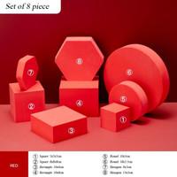Properti foto produk set isi 8 balok foam geometric cubes photo props