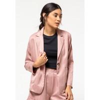 Colorbox Twill Stripe Blazer I:BZWKEY121E029 Dusty Pink