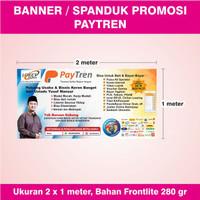 Loket 1 x Paytren TERBARU Ukuran 2 Resmi Banner Agen meter -