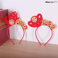 Sf Bando Retro Gaya Cina Motif Tahun Baru Imlek Untuk Anak Perempuan
