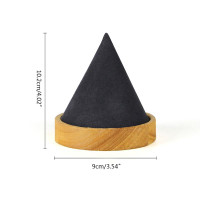 ✿INF✿Cone Shape Wooden Bangle Bracelet Anklet Jewelry Display