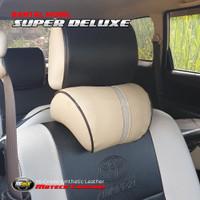 New! Bantal Leher Headrest Jok Kulit Mbtech Mobil All New Rush
