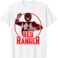 Baju Kaos Anak Power Rangers Red Ranger Simple Portrait