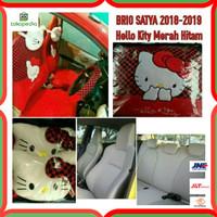 Sarung Jok Mobil Full Set All New Brio Satya 2018-2019 Motif Hello