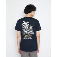 Kaos Pria Erigo T-Shirt Lava Tour Cotton Combed Navy - S