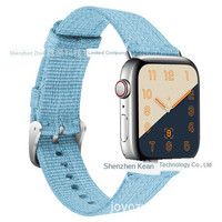 ▫Apply to Apple Watch Series4 nylon band iWatch woven mesh canvas