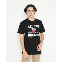 Kaos Pria Erigo T-Shirt Chicago Team Cotton Combed Black - S