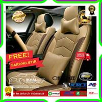 Sarung Jok Kulit Mobil Innova Fortuner Bahan Original Syntetic Motif