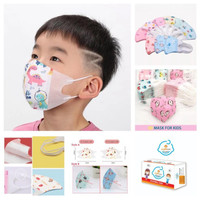 50 Masker DuckBill Anak 3D Karakter Duck Bil Mask EARLOOP Baby Toddler
