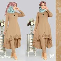 Promo Setelan / Baju / Gamis Wanita Muslim 2in1 Atasan & Celana Good